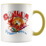 Canada Soccer Mug Women's World Cup 2019 Mugs-soccer Yellow {{ crystalmagicdesigns }}