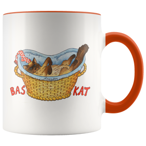 BasKat Cat Mug in 7 Colors