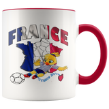 Soccer Accent Mug Collector's Women's World Cup 2019 Mugs-soccer Red {{ crystalmagicdesigns }}