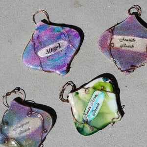 Alcohol Ink Ornaments
