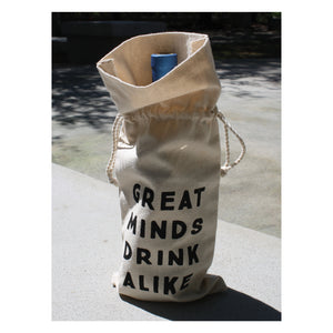 Wine Bag - Great Minds Drink Alike
