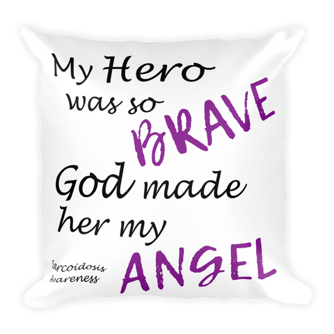 She's My Hero Square Pillow
