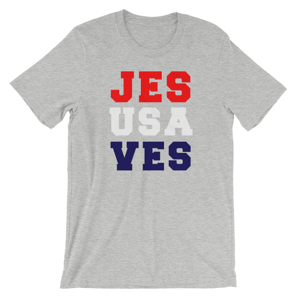 Jesus Saves USA Short-Sleeve Unisex T-Shirt