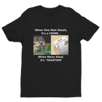 Taxation is Theft Form-Fitting Short Sleeve T-shirt