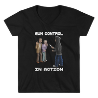 Gun Control In Action Women's Casual V-Neck Shirt