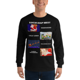 Santa's Rap Sheet - Long Sleeve T-Shirt