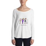 """Social Security Ponzi Scheme"" Ladies' Long Sleeve Tee"