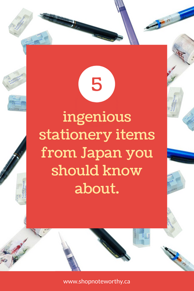 5 Ingenious Stationery Items from Japan you should know about.