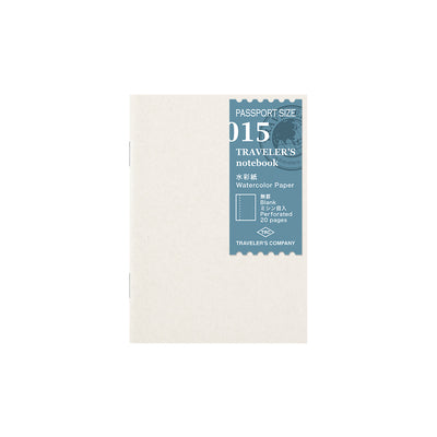 Traveler´s Notebook Refill 015 Watercolor Paper for Passport Size