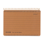 Midori Horizontal Ring Memo Notebook B7, Ruled 7mm - noteworthy