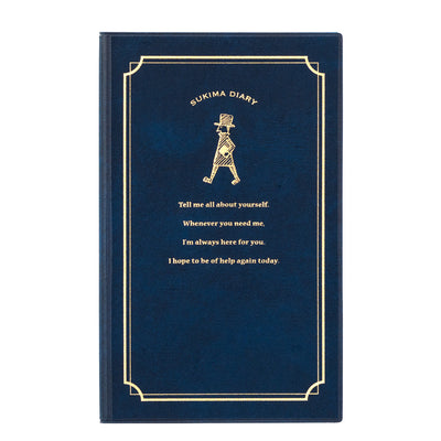 Midori 24 Hour Journal, Navy - noteworthy