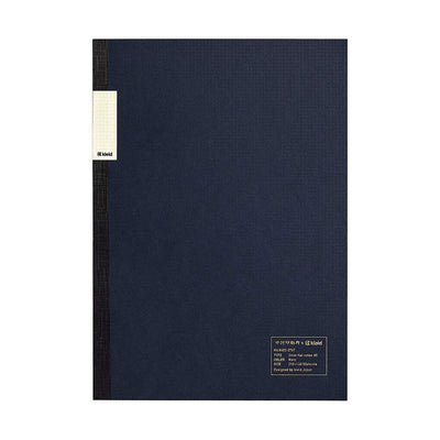 Kleid A5 2 mm Grid Foolscap Notebook - Navy Blue