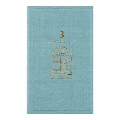Midori 3 Years Diary, Light Blue - noteworthy