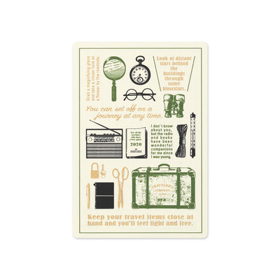 Traveler's Notebooks Plastic Sheet 2020 for Passport Size