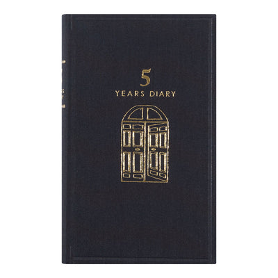 Midori 5 Years Diary, Black - noteworthy
