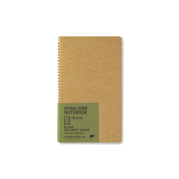 Traveler´s Company A5 Slim Kraft Spiral Ring Notebook - noteworthy