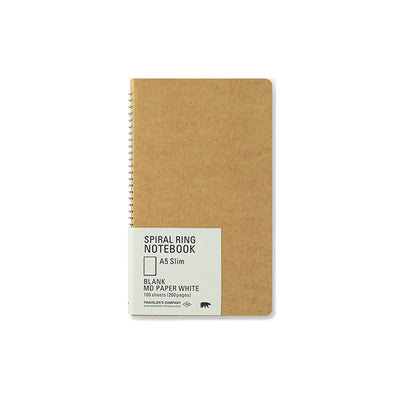 Traveler´s Company A5 Slim MD Paper White Spiral Ring Notebook - noteworthy