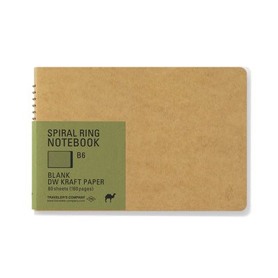 Traveler´s Company B6 Kraft Spiral Ring Notebook - noteworthy