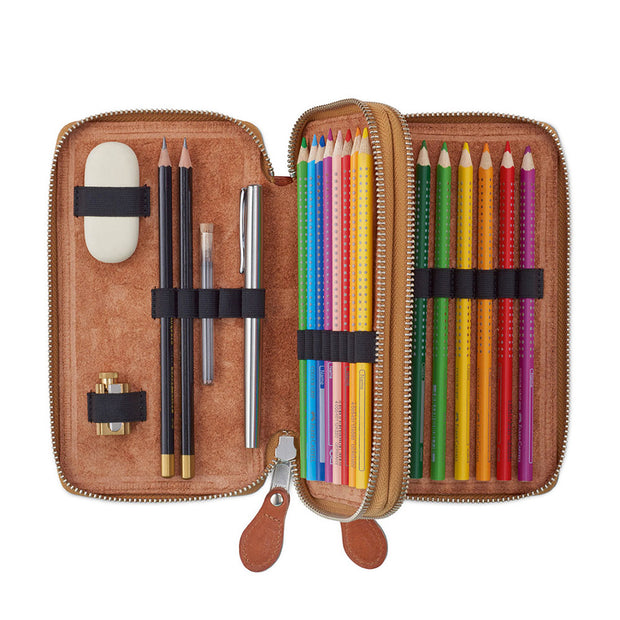 Sonnenleder Bosse Leather Pencil Case for 31 pens or pencils - noteworthy