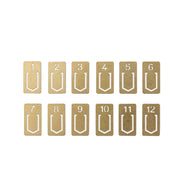 Traveler´s Company Brass Number Clips - noteworthy