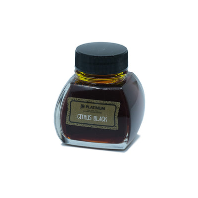 Platinum Classic Ink, Fountain Pen Ink Bottle, Citrus Black - 60ml