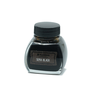 Platinum Classic Ink, Fountain Pen Ink Bottle, Sepia Black - 60ml
