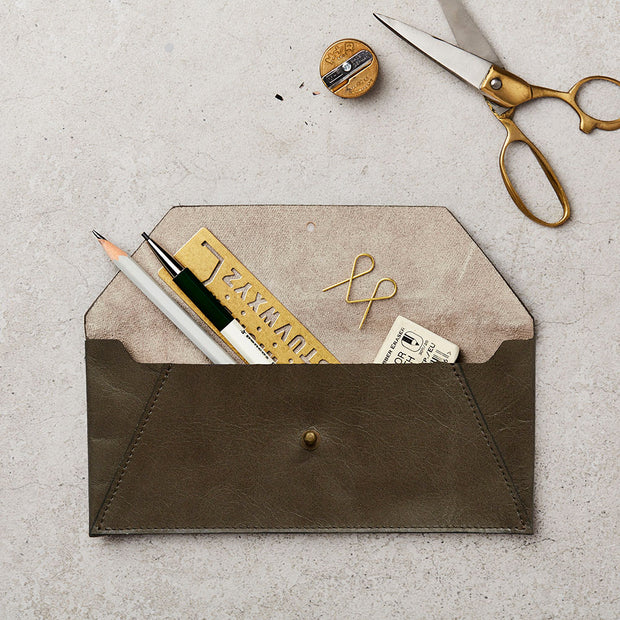 Katie Leamon Leather Pencil Pouch - noteworthy