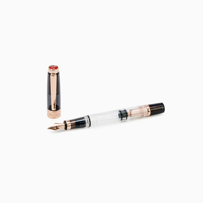 TWSBI Diamond 580 Smoke Rose Gold Fountain Pen, Medium Nib