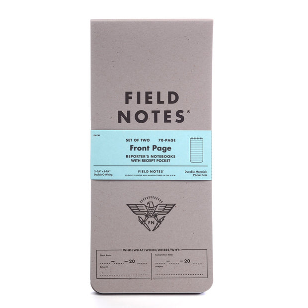 Field Notes, Front Page Reporter Notebooks - Set of 2 - noteworthy