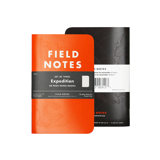 Field Notes, Expedition Memo Books - Set of 3 - noteworthy