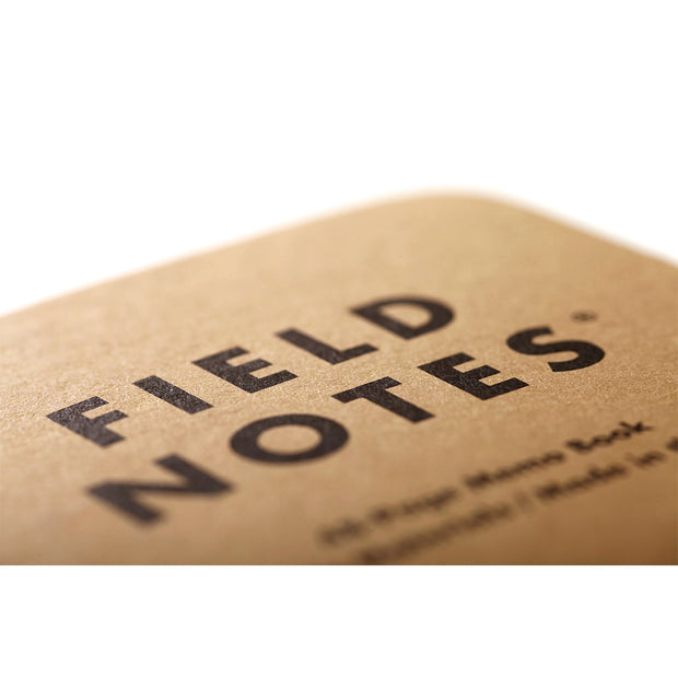 Field Notes, Original Kraft Memo Books, Mixed - Set of 3 - noteworthy