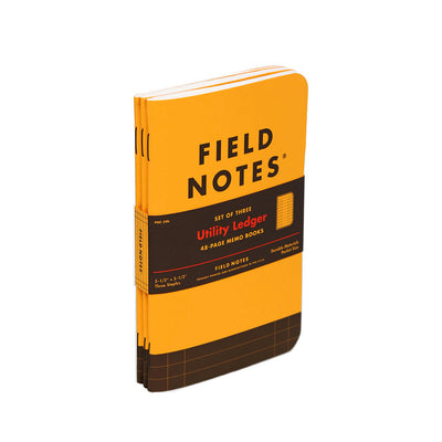 Field Notes, Utility Ledger Memo Books - Set of 3 - noteworthy