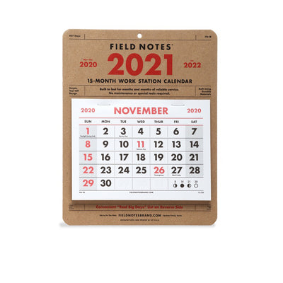 Field Notes Workstation Calendar 2021
