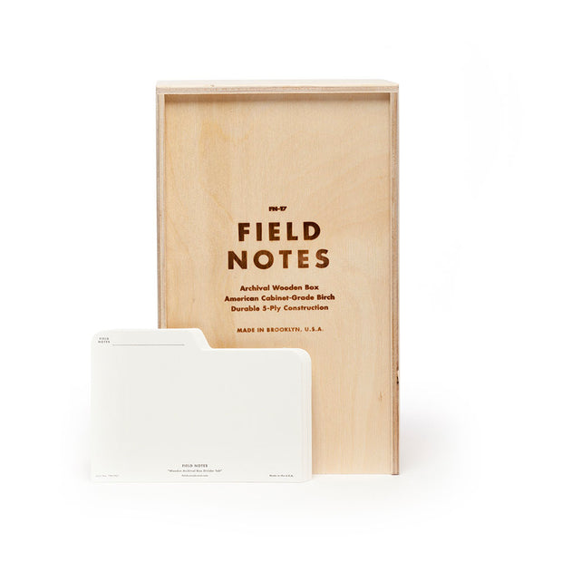 Field Notes Archival Wooden Box - noteworthy