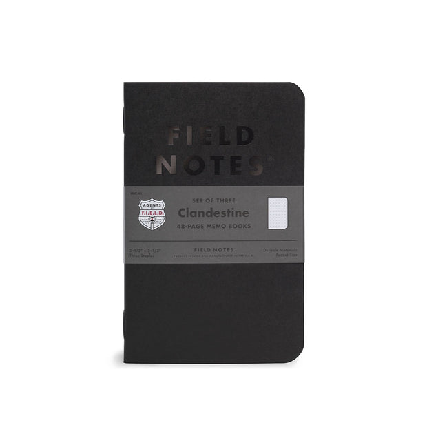 Field Notes, Clandestine Memo Books - Set of 3 - noteworthy