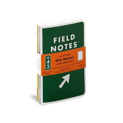 Field Notes, Mile Marker Memo Books - Set of 3 - noteworthy