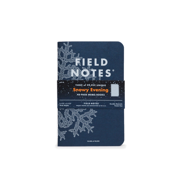 Field Notes Snowy Evening  - Set of 3 books