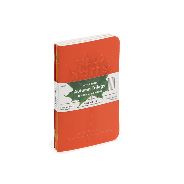 Field Notes Autumn Trilogy 2019 Edition Memo Books - Set of 3 - noteworthy