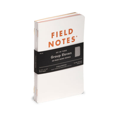 Field Notes, Group Eleven Memo Books - Set of 3 - noteworthy