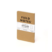 Field Notes, Original Kraft Memo Books, Left-Handed , Lined - Set of 3