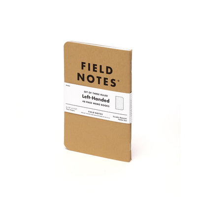 Field Notes, Original Kraft Memo Books, Left-Handed , Lined - Set of 3 - noteworthy