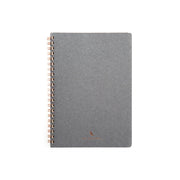 Kawachiya Kunisawa Find Ring Note Notebook, A5 , Grid - Grey - noteworthy