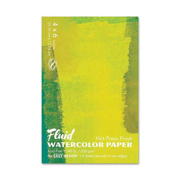 Fluid Watercolor Hot Press Paper 4 x 6 - noteworthy