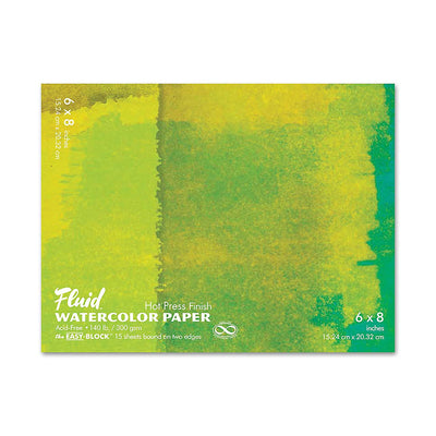 Fluid Watercolor Hot Press Paper 8 x 6 - noteworthy