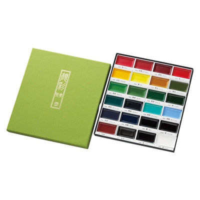 Kuretake Gansai Tambi Watercolor Set, 24 Colors - noteworthy