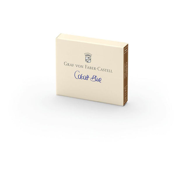 Graf von Faber-Castell Cobalt Blue Ink Cartridges - Pack of 6