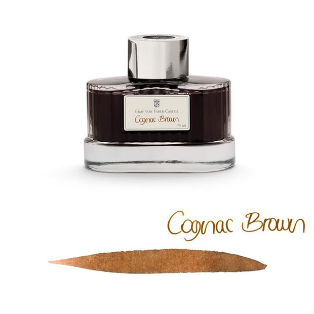 Graf von Faber-Castell Ink Bottle, 75ml - Cognac Brown