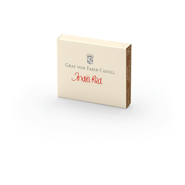 Graf von Faber-Castell India Red Ink Cartridges - Pack of 6