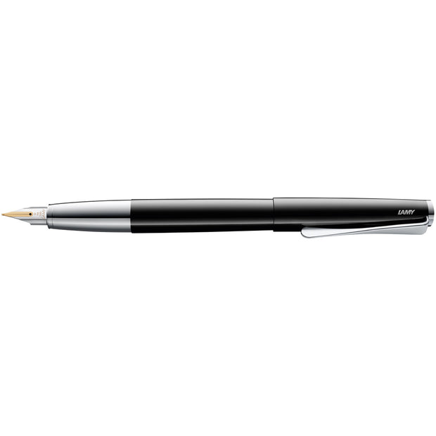 LAMY Studio Fountain Pen, Piano Black - EF (Extra Fine)