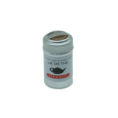 J. Herbin Lie de Thé (Tea Lees) Fountain Pen Ink Cartridges - Tin of 6